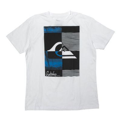 White large front print t-shirt