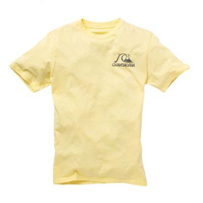 Yellow mountain wave back print t-shirt