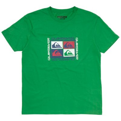 Green four logo print t-shirt