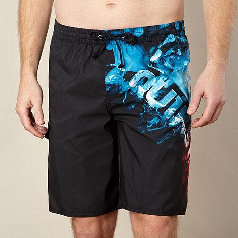 Quiksilver - Black side logo swim shorts