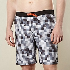 Quiksilver - Black checked swim shorts