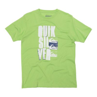 Bright green large logo t-shirt