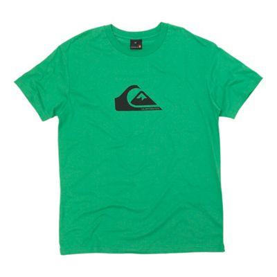 Dark green wave logo print t-shirt