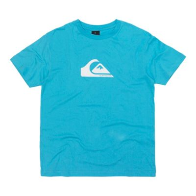 Turquoise logo front printed t-shirt