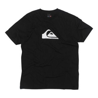 Black wave logo print t-shirt