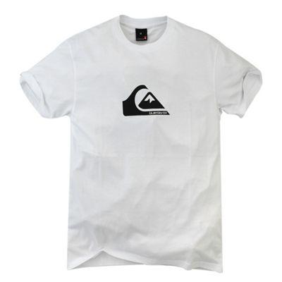 White wave logo print t-shirt