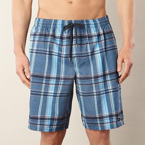 O+Neill - Blue checked swim shorts