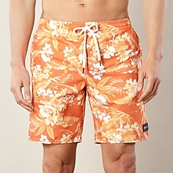 O'Neill - Orange floral print swim shorts