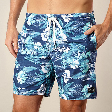 O+Neill - Blue graphic floral swim shorts