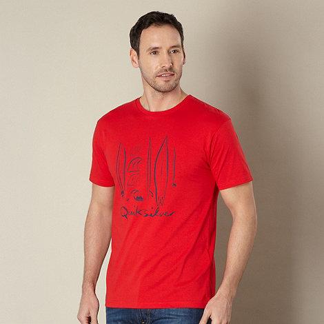 Quiksilver - Red surfer logo t-shirt