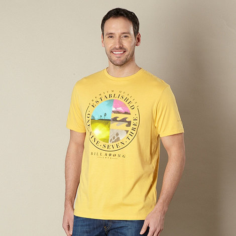 Billabong - Yellow wave logo t-shirt