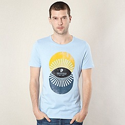 Protest - Light blue sunrise circle print t-shirt