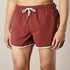 Red Herring - Dark red contrast trim swim shorts