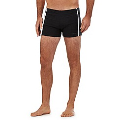 J by Jasper Conran - Big and tall designer black placement panel swim trunks