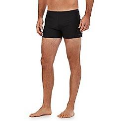 J by Jasper Conran - Big and tall designer black plain swim trunks