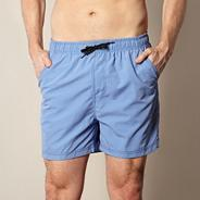 Big and tall light blue plain swim shorts
