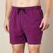 Big and tall purple plain swim shorts