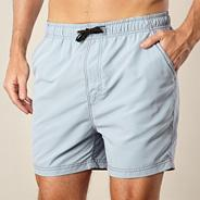 Big and tall pale grey plain swim shorts