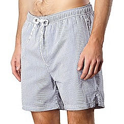 Maine New England - Navy seersucker striped swim shorts