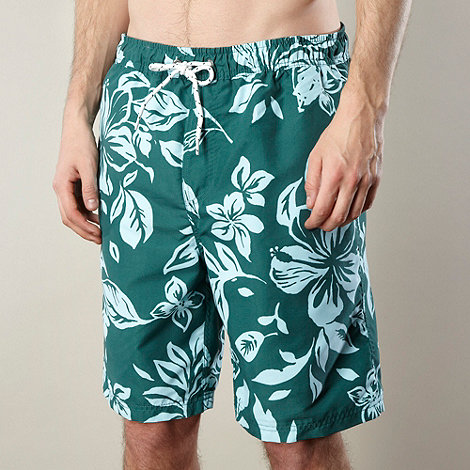 Maine New England - Green floral print swim shorts