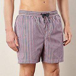 Maine New England - Red striped swim shorts