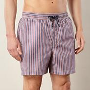 Red striped swim shorts