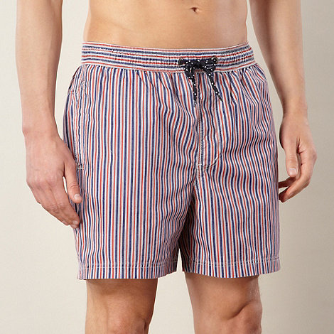 Maine New England - Big and tall red striped swim shorts