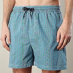Maine New England - Green striped swim shorts
