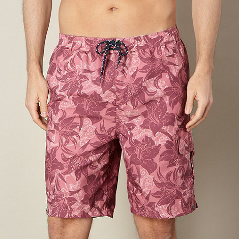 Maine New England - Pink floral cargo swim shorts