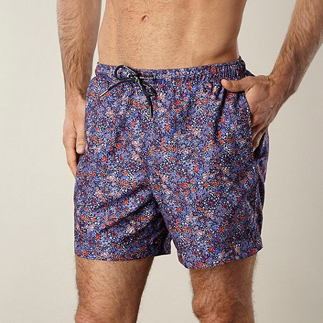 Hardcastle - Purple mini floral swim shorts