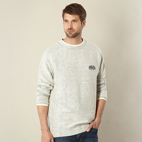 Weird Fish - Natural textured crew neck jumper