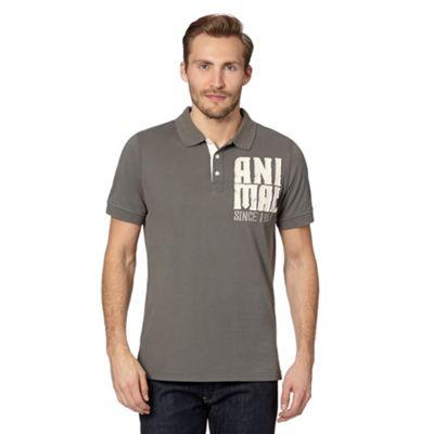 Anial Grey applique polo shirt - . -