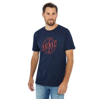 Anial Navy caravan printed t-shirt - . -