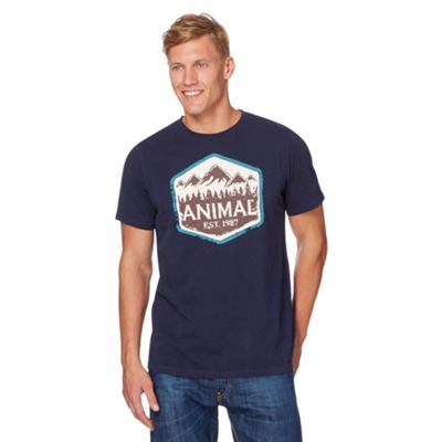 Anial Navy ountain printed t-shirt - . -