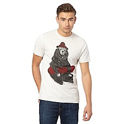 Animal - White hatted bear design t-shirt