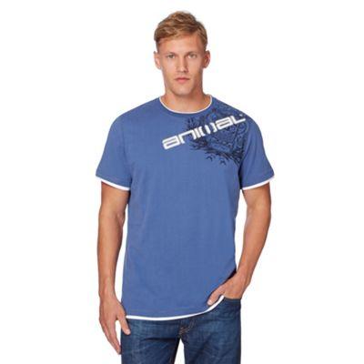 Animal Blue printed houlder t-hirt - . -