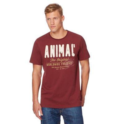 Anial Dark red applique logo t-shirt - . -