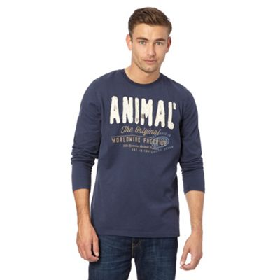 Animal Blue logo embroidered long leeved top - . -