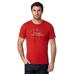 O'Neill - Red 'Explore the Unknown' t-shirt