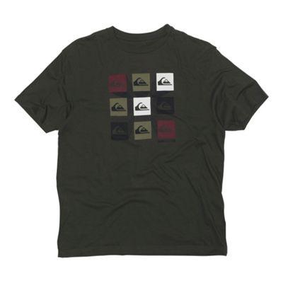 Brown multi block logo t-shirt