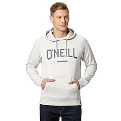 O'Neill - Natural slim fit logo flock hoodie