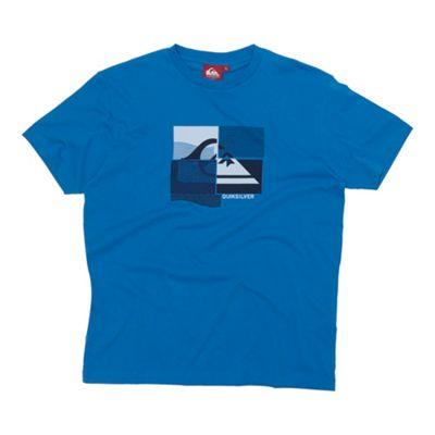 Blue mountain wave printed t-shirt