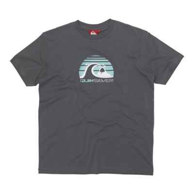 Grey mountain wave printed t-shirt