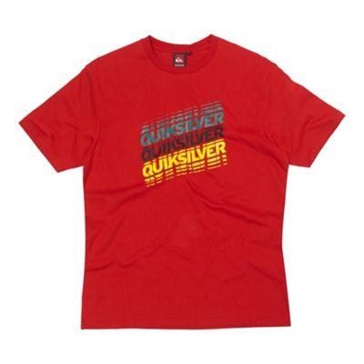 Red triple logo t-shirt