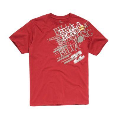 Red shoulder logo t-shirt
