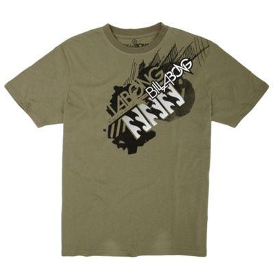 Khaki shoulder logo t-shirt