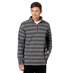 Weird Fish - Grey striped zip fleece