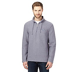 Weird Fish - Blue macaroni zip neck sweater