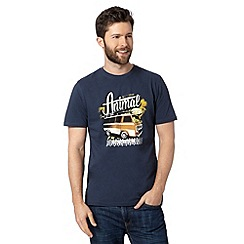 Animal - Navy logo bus print crew neck t-shirt