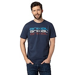 Animal - Big and tall navy triple logo print crew neck t-shirt